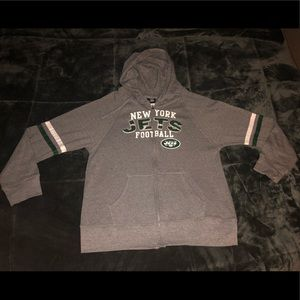 New York Jets Full Zip Hoodie NFL Apparel Size XL